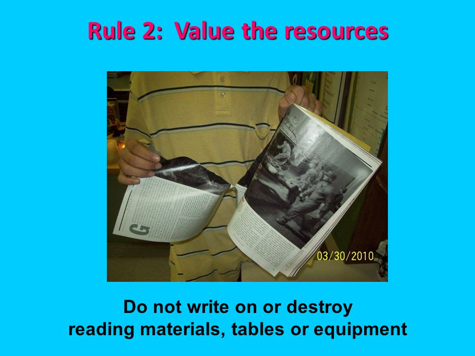 Rule 2: Value the resources