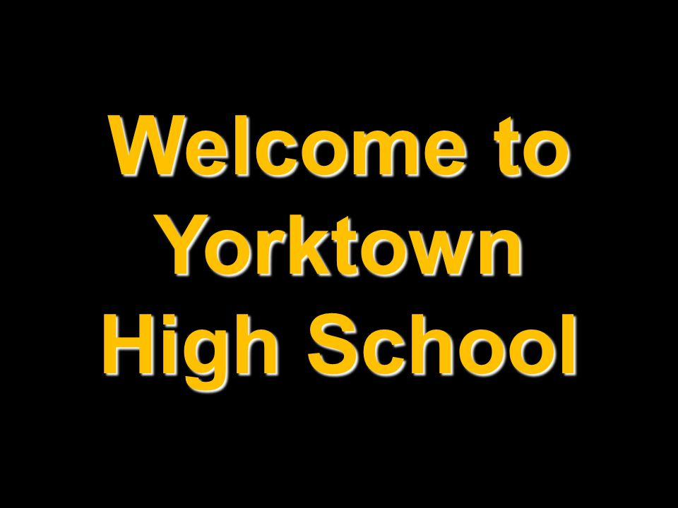 Welcome to Yorktown High School