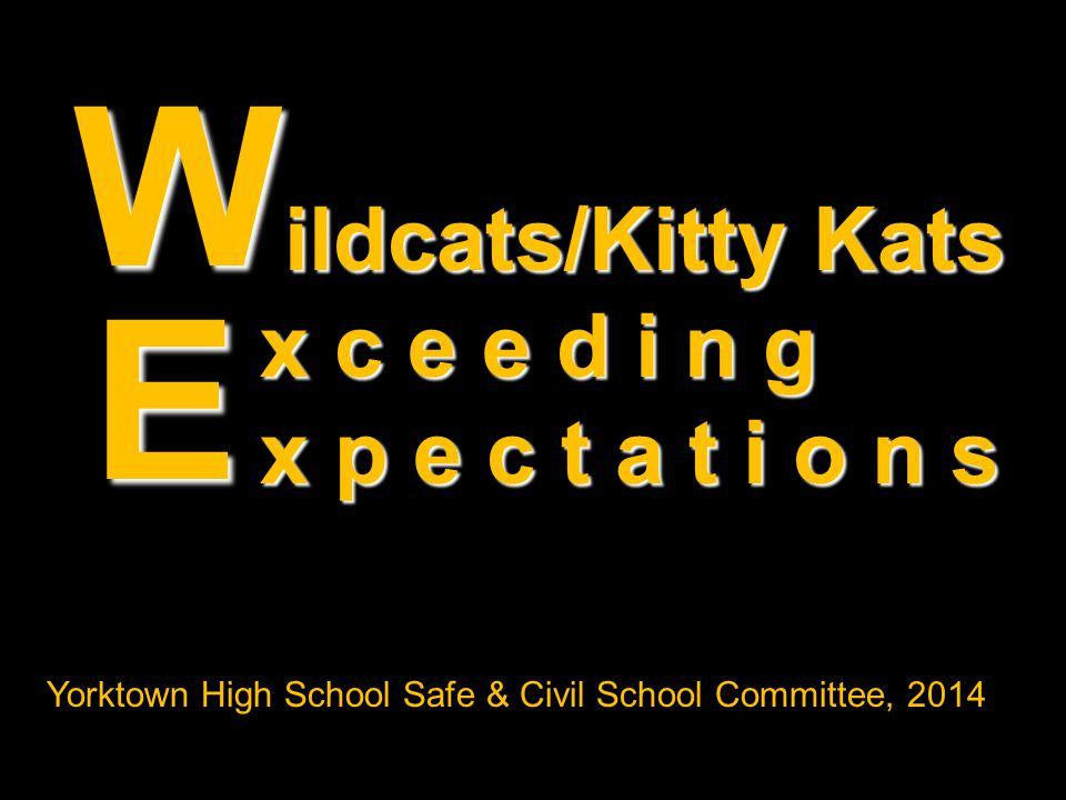 W E ildcats/Kitty Kats x c e e d i n g x p e c t a t i o n s