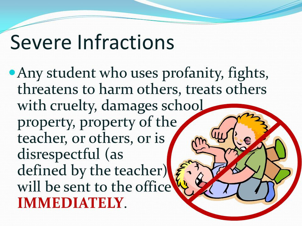 Severe Infractions