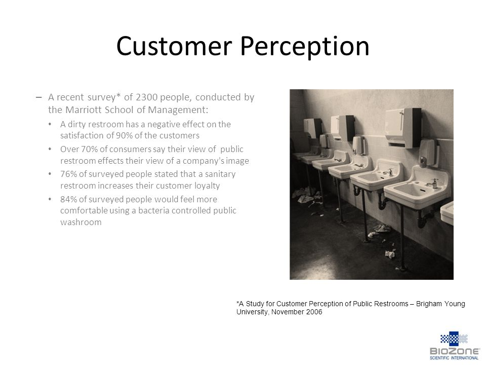 Customer Perception A recent survey* of 2300 people, conducted by the Marriott School of Management: