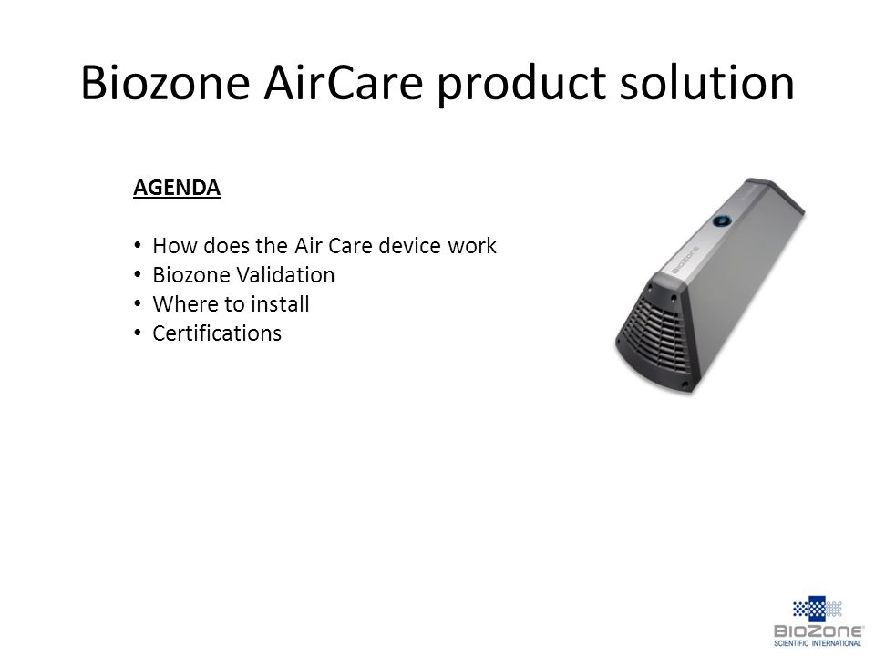Biozone AirCare product solution
