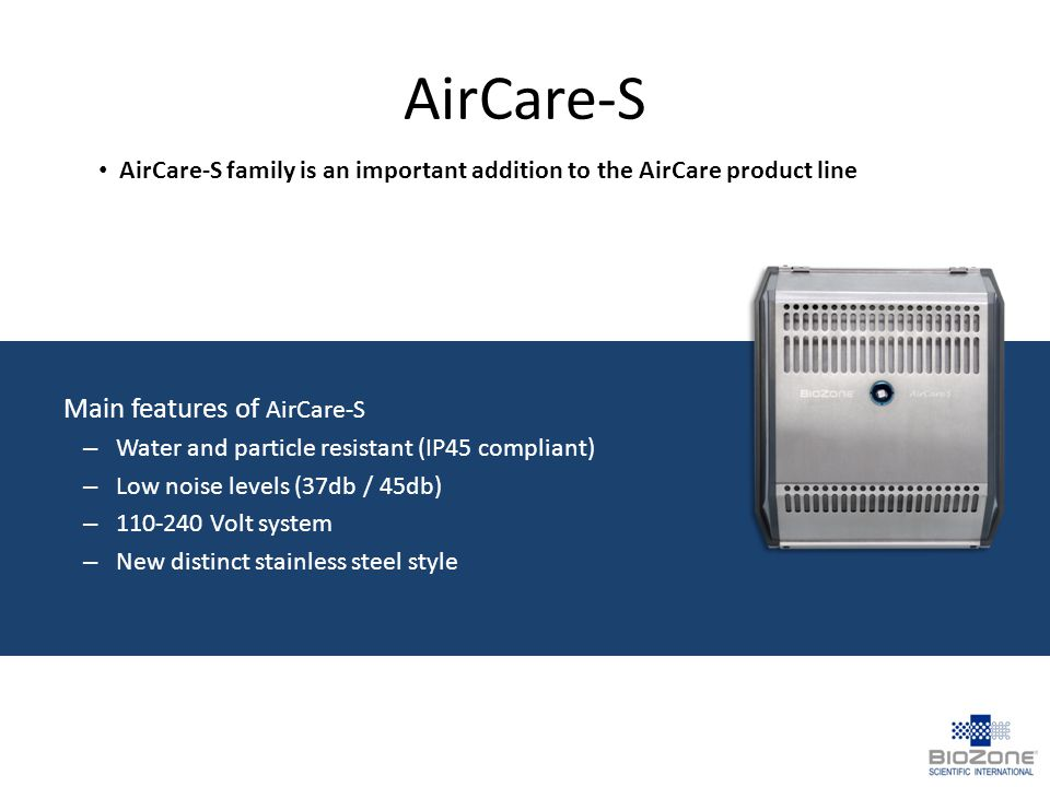 AirCare-S Main features of AirCare-S