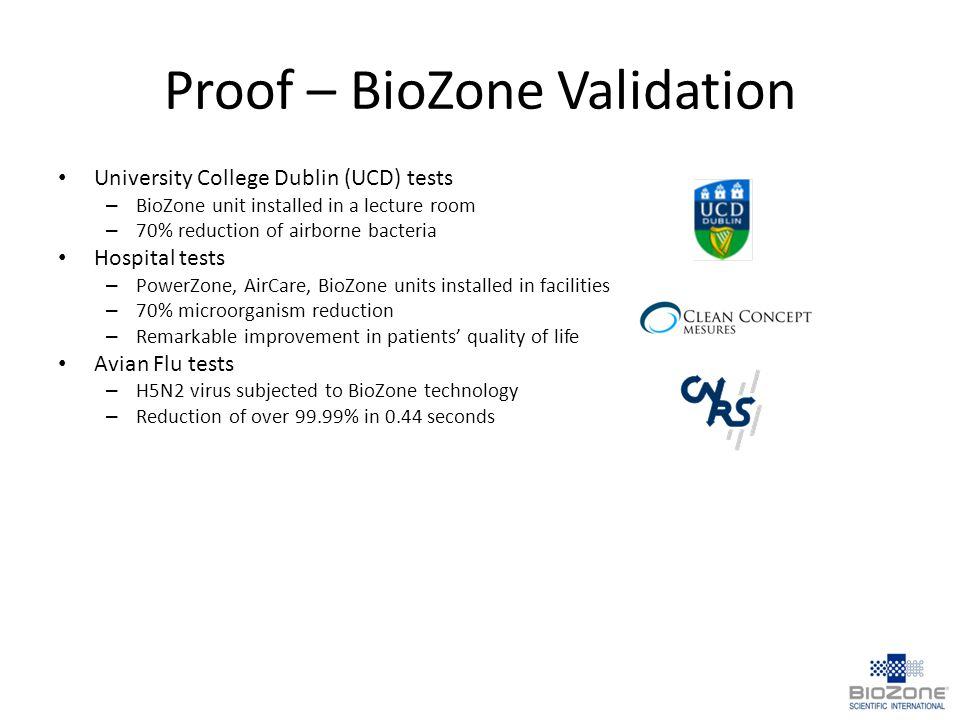 Proof – BioZone Validation