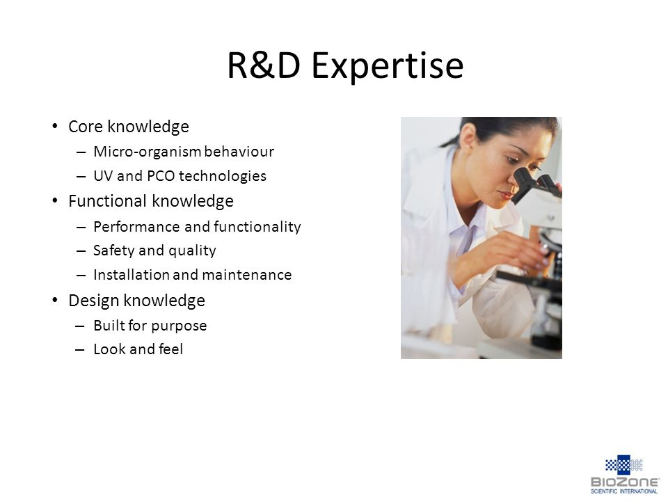 R&D Expertise Core knowledge Functional knowledge Design knowledge