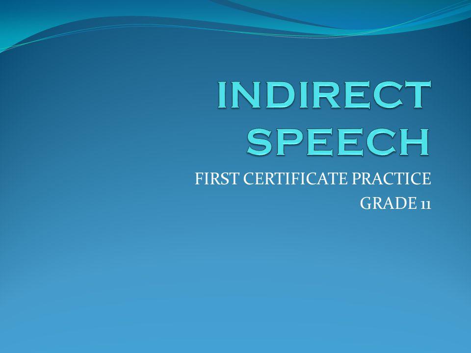 FIRST CERTIFICATE PRACTICE GRADE 11