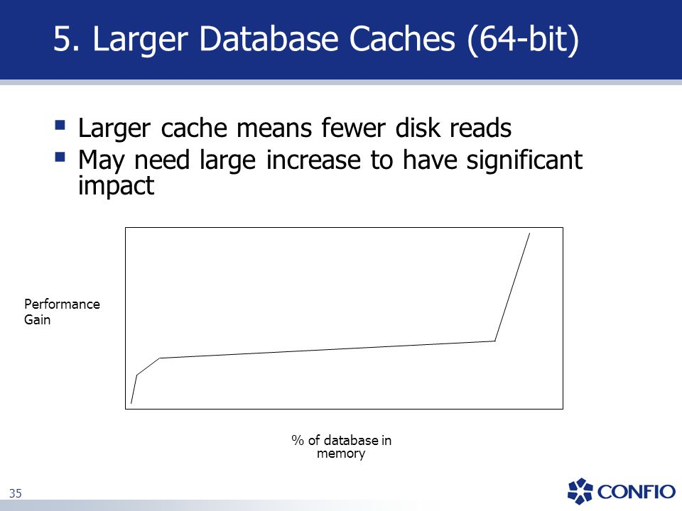 5. Larger Database Caches (64-bit)