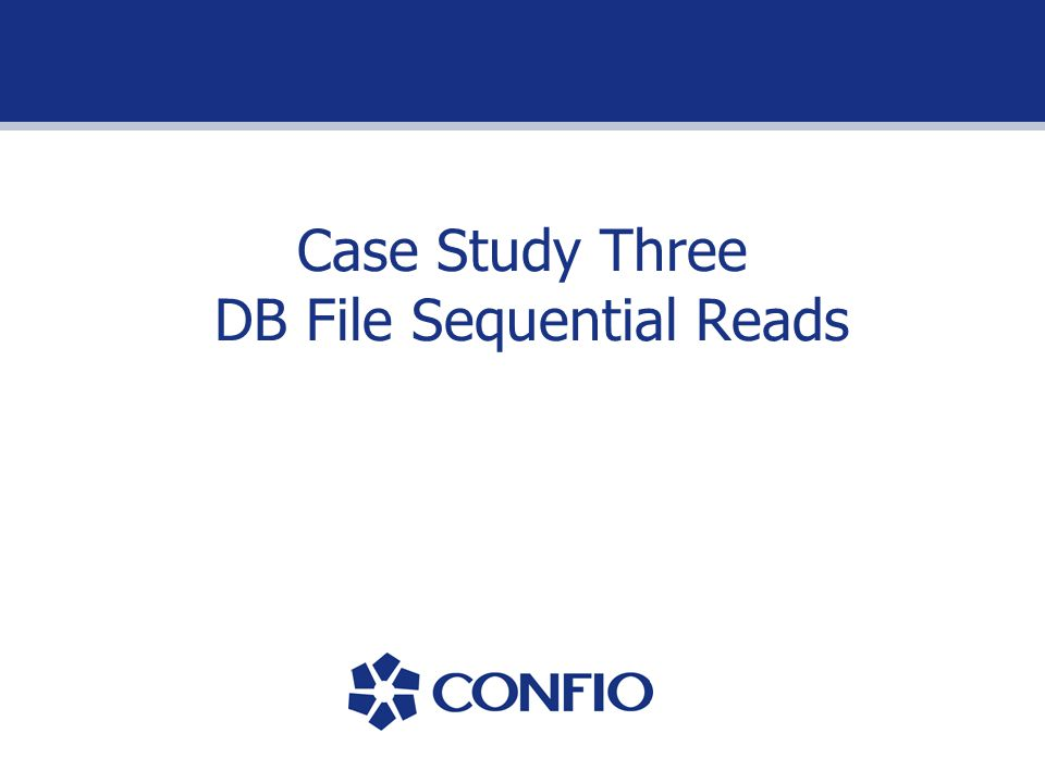 Case Study Three DB File Sequential Reads
