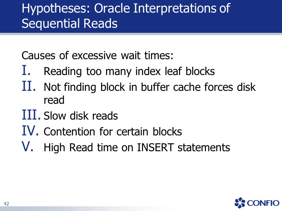 Hypotheses: Oracle Interpretations of Sequential Reads