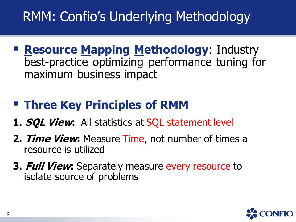 RMM: Confio's Underlying Methodology