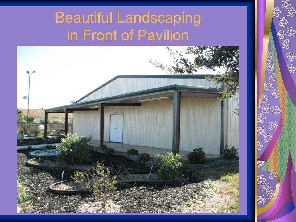 Beautiful Landscaping in Front of Pavilion