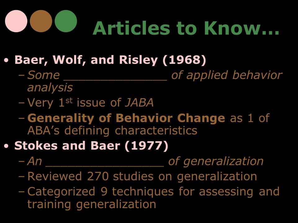 Articles to Know… Baer, Wolf, and Risley (1968)