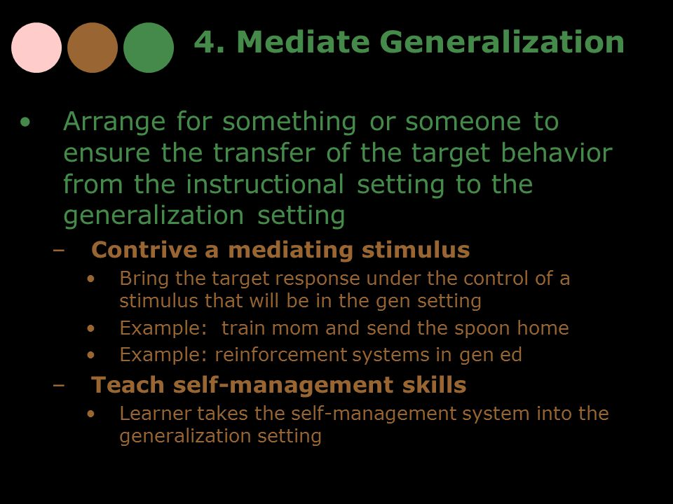 4. Mediate Generalization