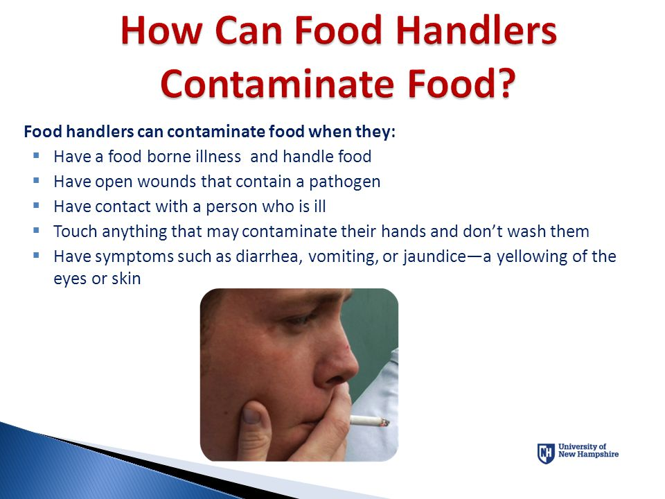How Can Food Handlers Contaminate Food