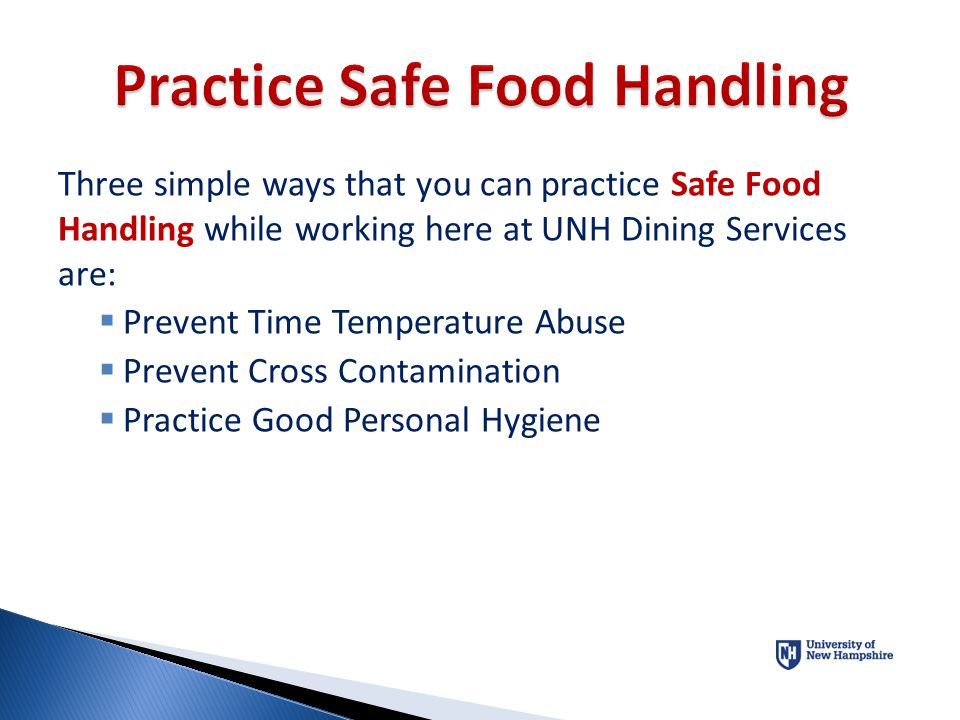 Practice Safe Food Handling