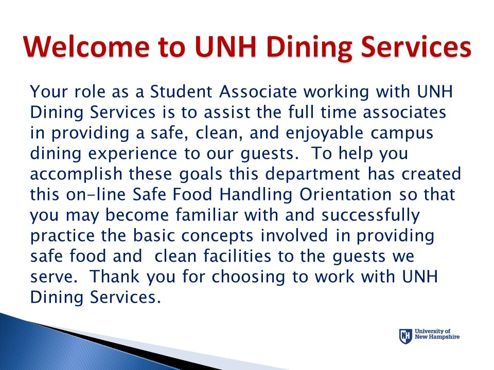 Welcome to UNH Dining Services