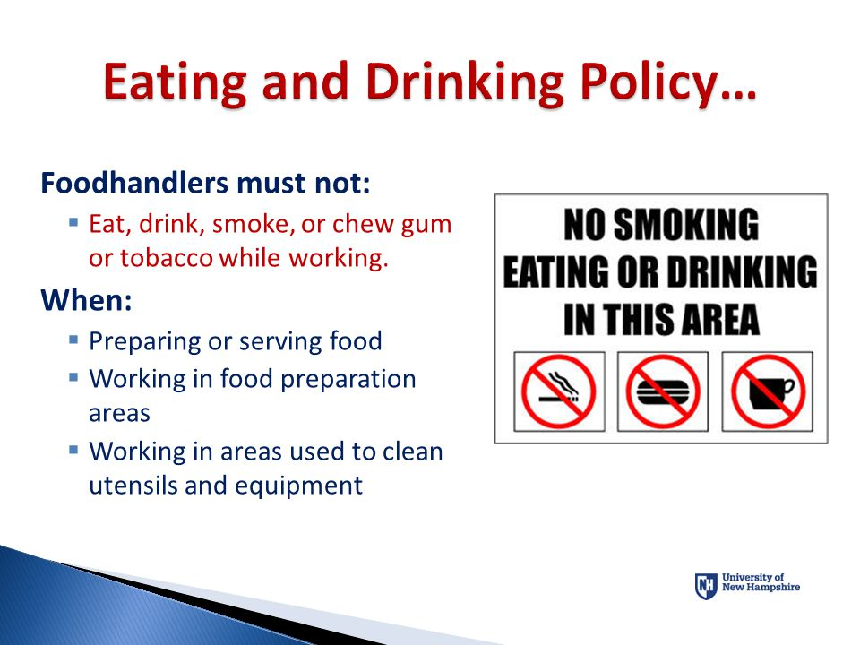 Eating and Drinking Policy…