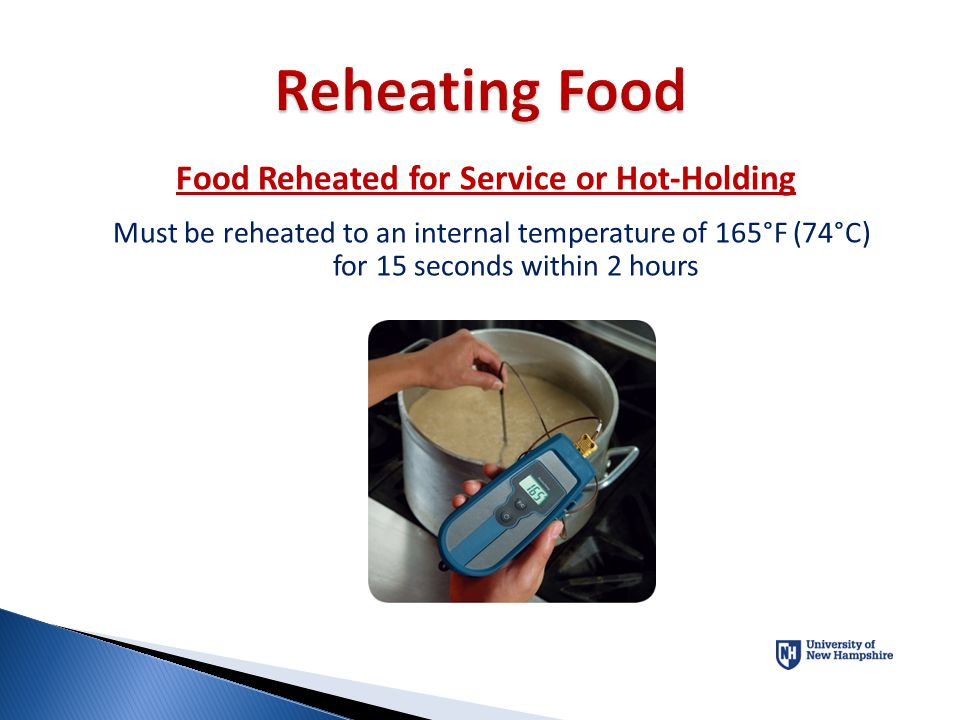 Food Reheated for Service or Hot-Holding
