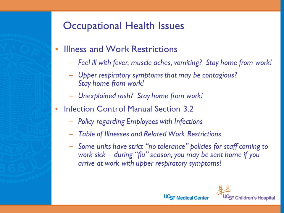 Occupational Health Issues