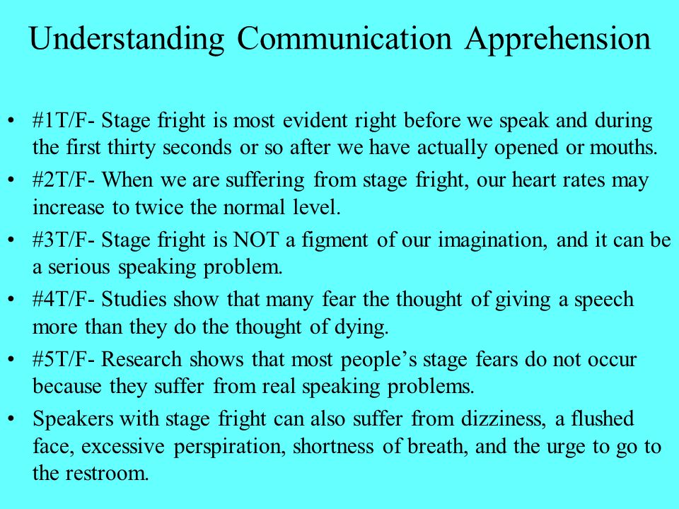 Understanding Communication Apprehension