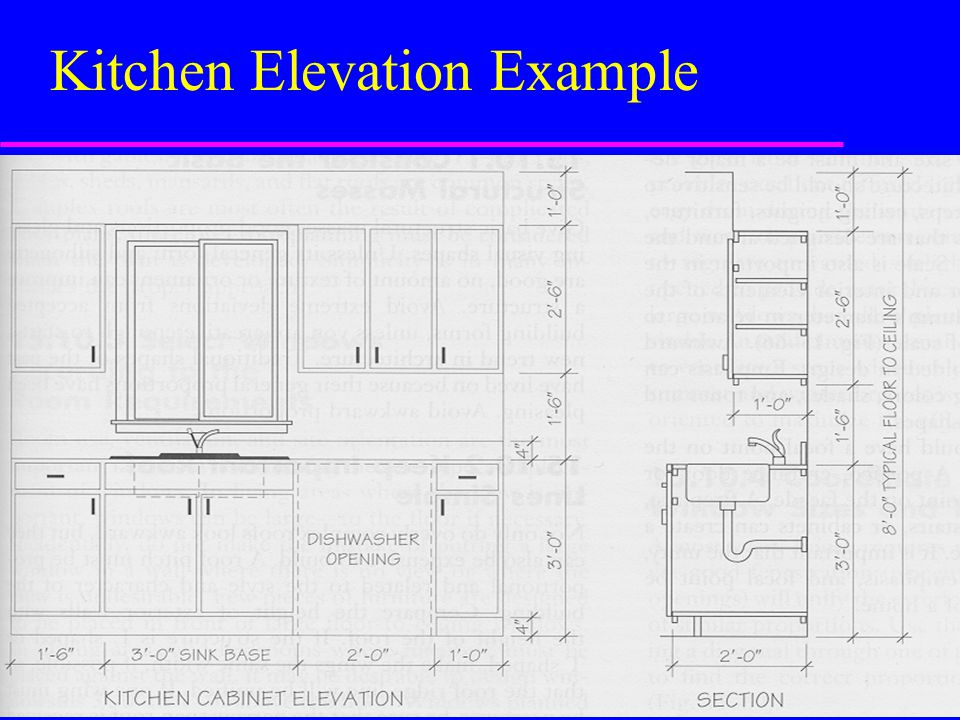 Kitchen Elevation Example