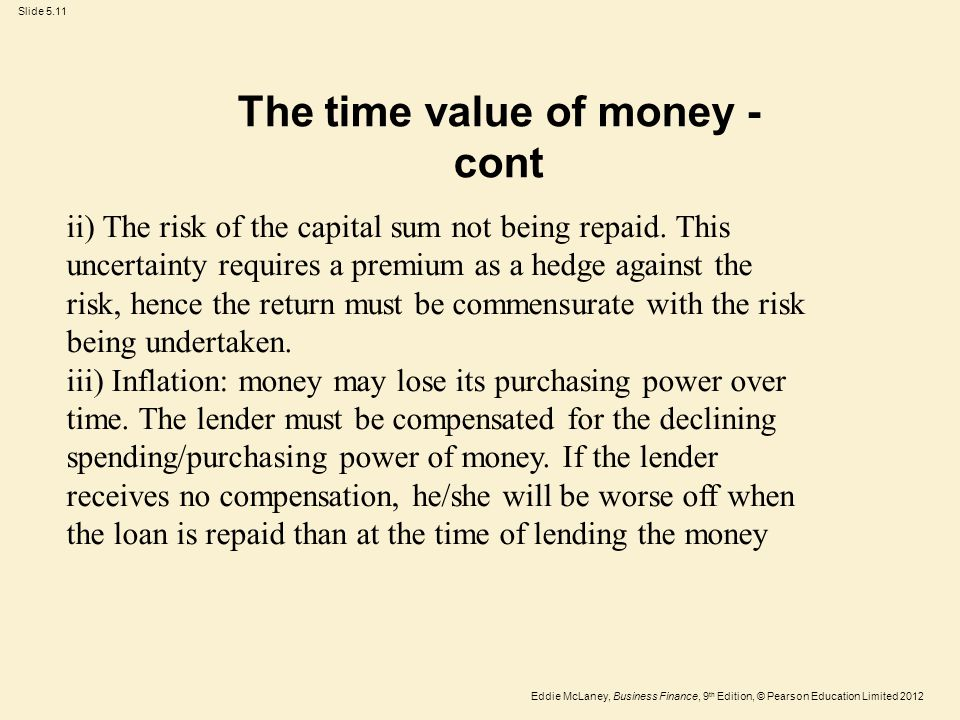 The time value of money -cont