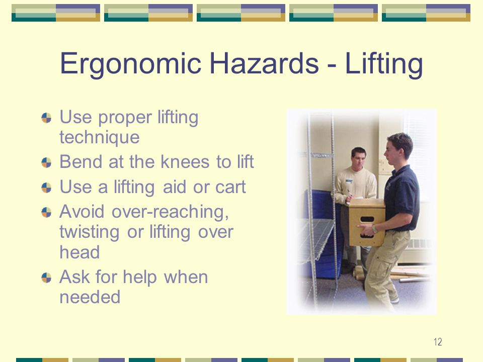 Ergonomic Hazards - Lifting