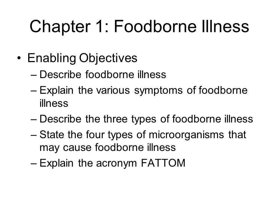 Chapter 1: Foodborne Illness
