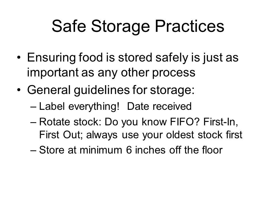 Safe Storage Practices