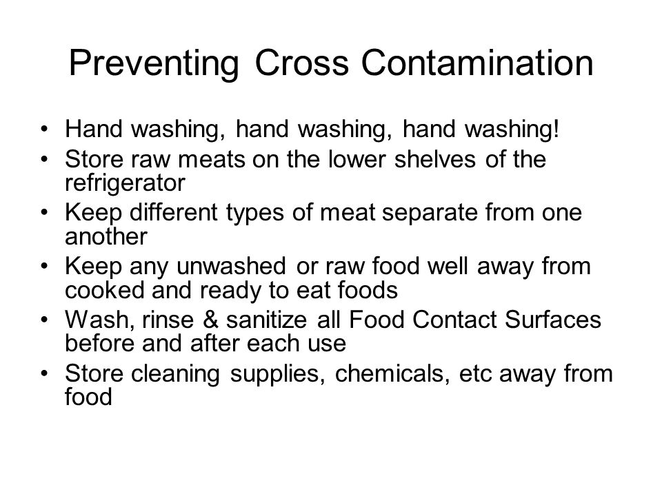 Preventing Cross Contamination