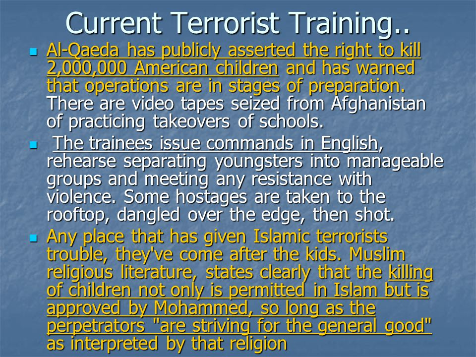 Current Terrorist Training..