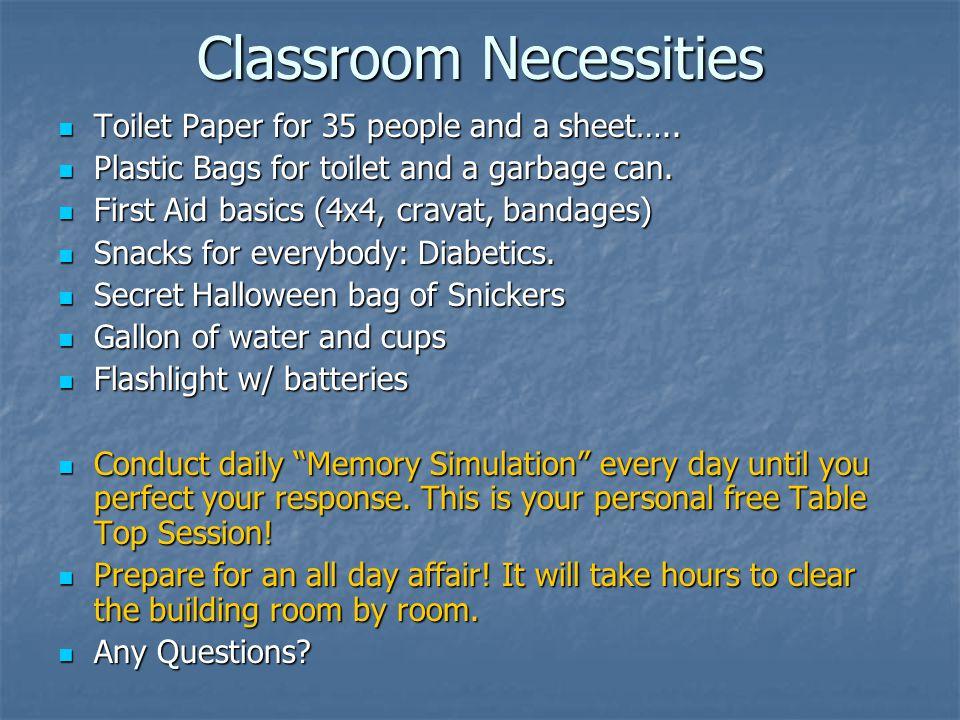 Classroom Necessities