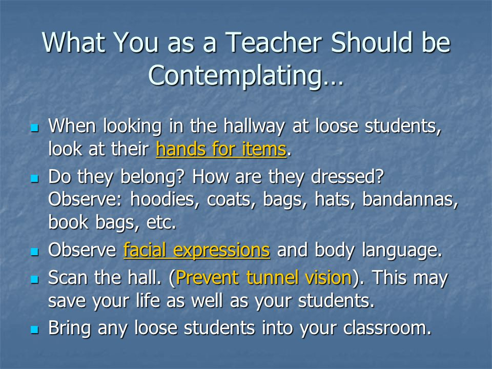 What You as a Teacher Should be Contemplating…