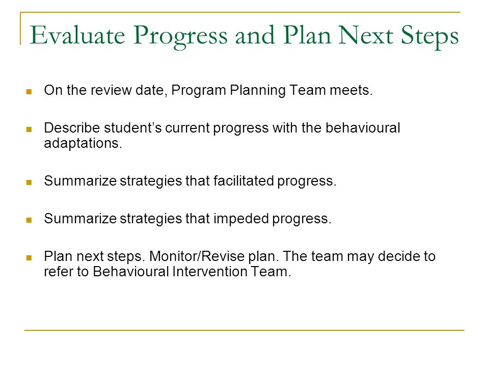 Evaluate Progress and Plan Next Steps