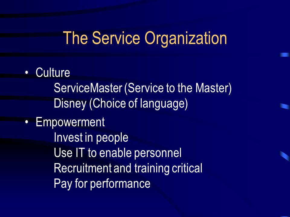 The Service Organization