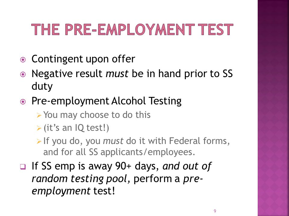 The Pre-Employment Test