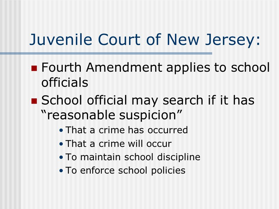 Juvenile Court of New Jersey: