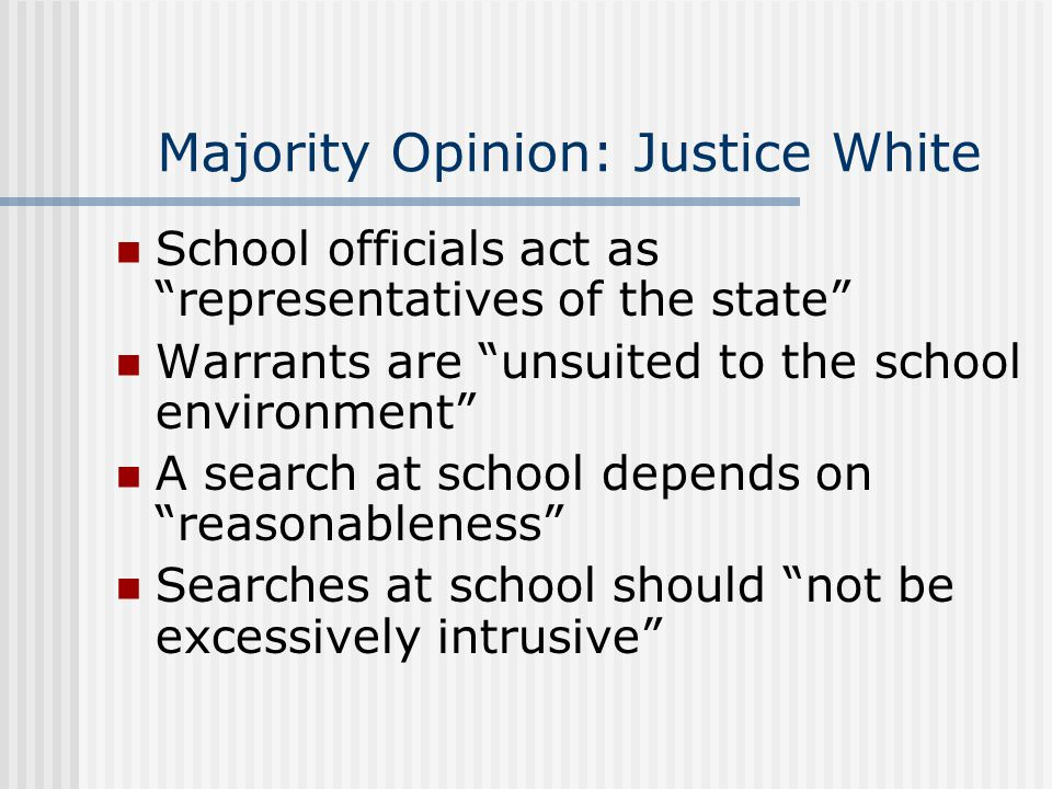 Majority Opinion: Justice White