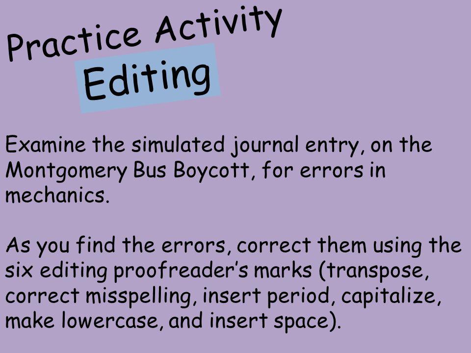Editing Practice Activity
