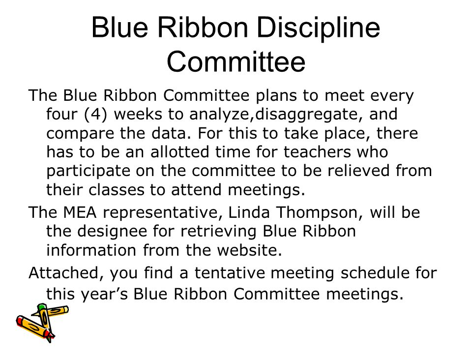 Blue Ribbon Discipline Committee
