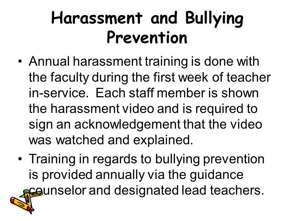 Harassment and Bullying Prevention