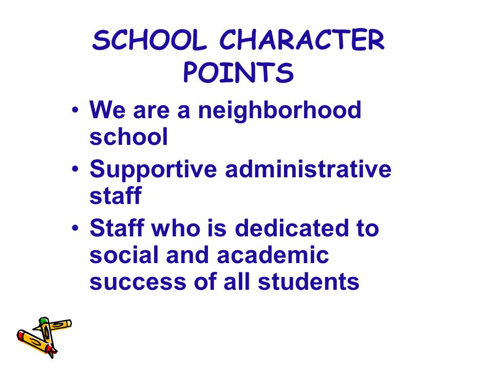 SCHOOL CHARACTER POINTS