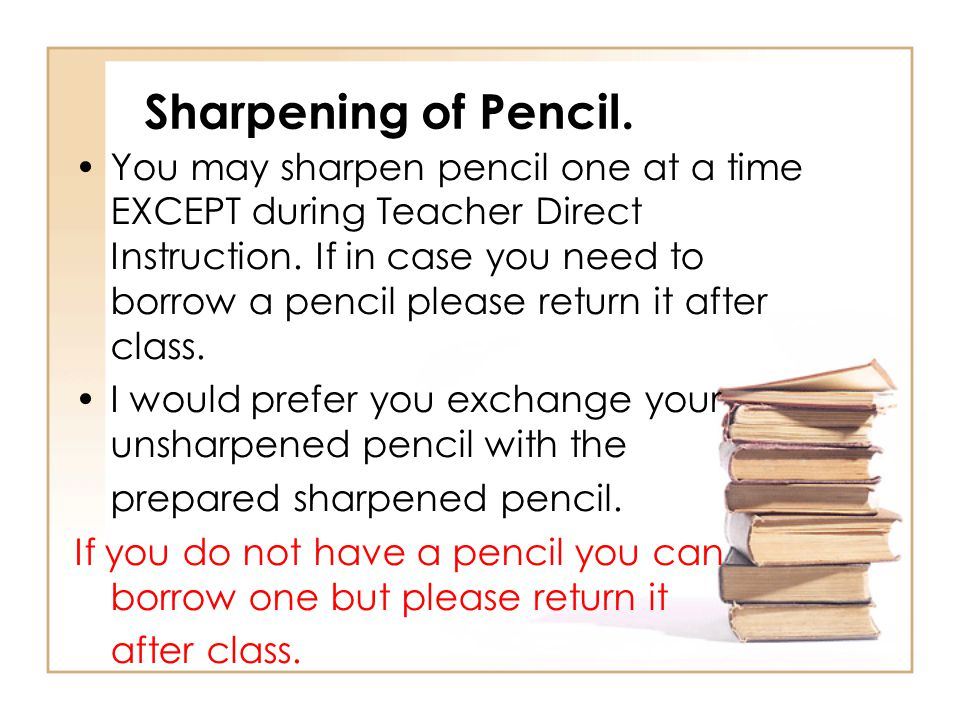 Sharpening of Pencil.