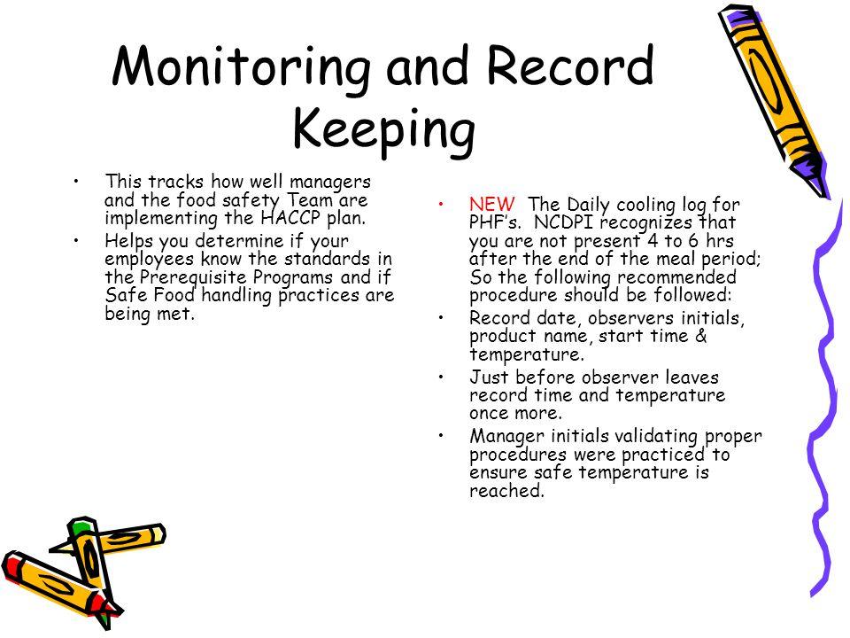 Monitoring and Record Keeping