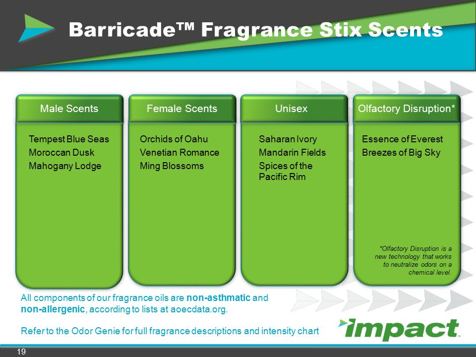 Barricade™ Fragrance Stix Scents