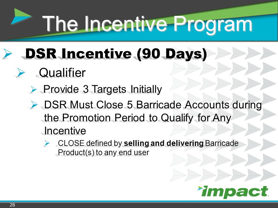 The Incentive Program DSR Incentive (90 Days) Qualifier