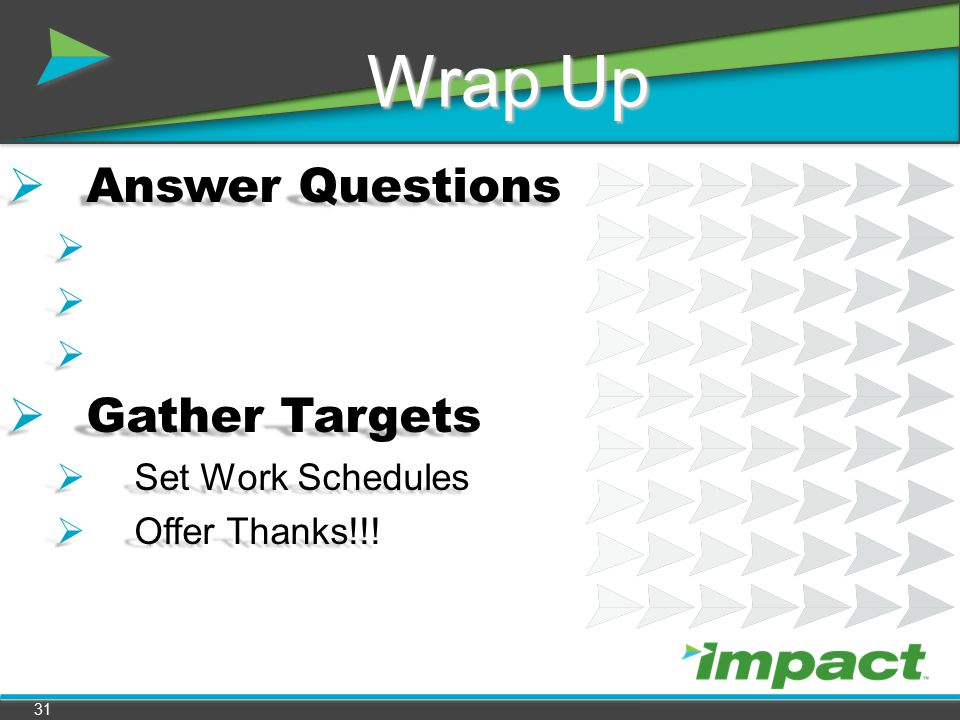 Answer Questions Gather Targets Set Work Schedules Offer Thanks!!!