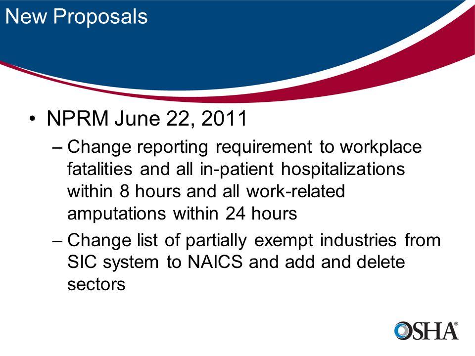New Proposals NPRM June 22, 2011