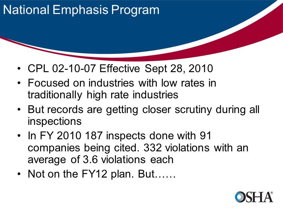 National Emphasis Program