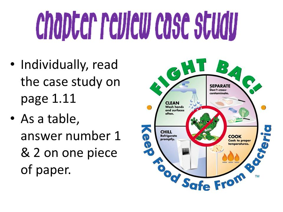Individually, read the case study on page 1.11